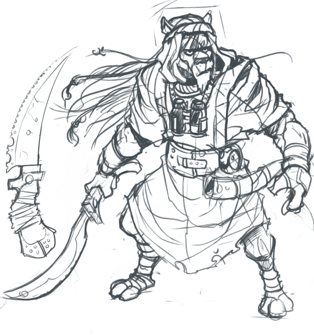 Katar Warrior Sketch