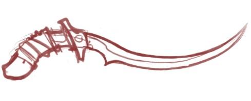 Katar Sword Sketch