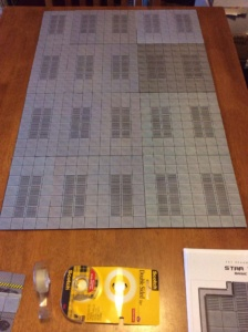 complete board, tape and tiles