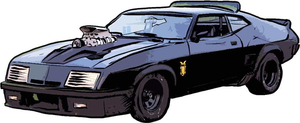 Ford Falcon XB GT Coupe art by Rick Hershey